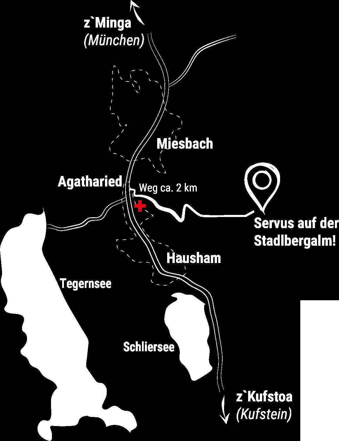 Anfahrtsplan zur Stadlbergalm